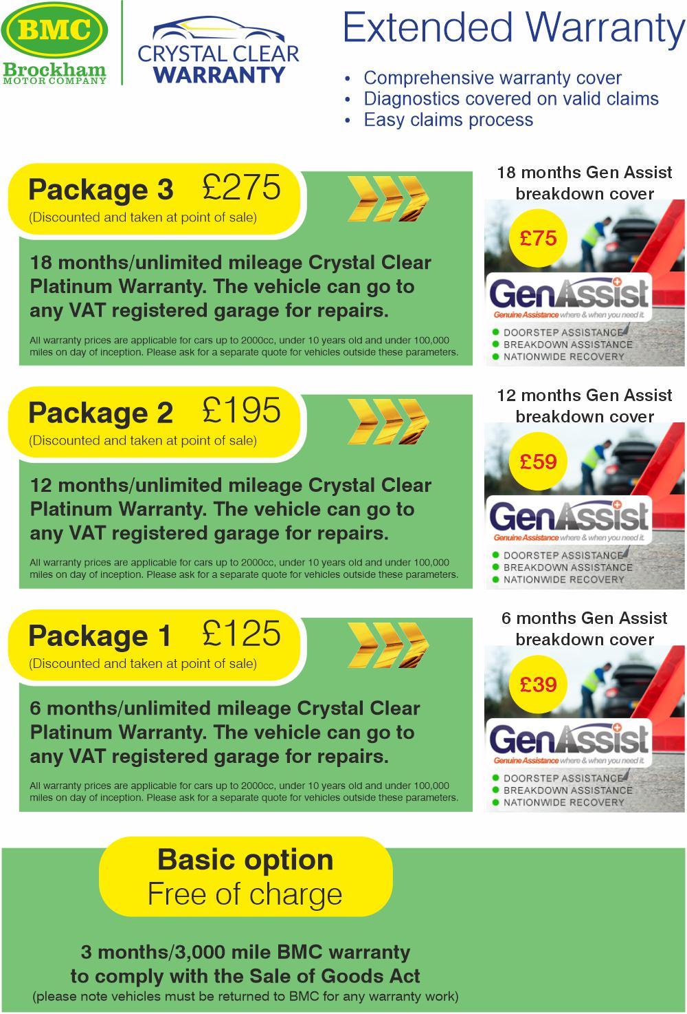 BMC Crystal Clear Warranty